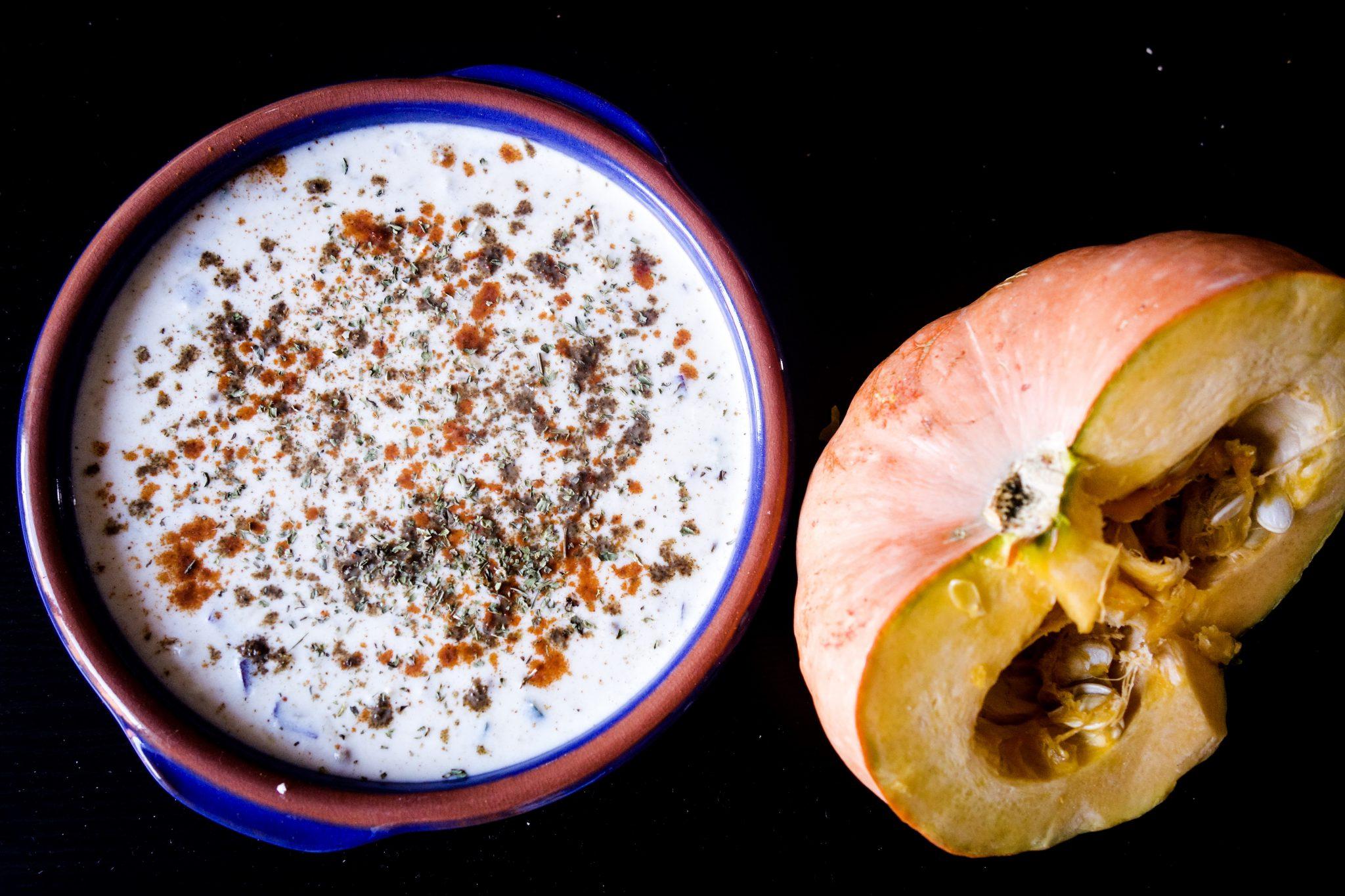Pumpkin Raita/ Kaddu Raita recipe