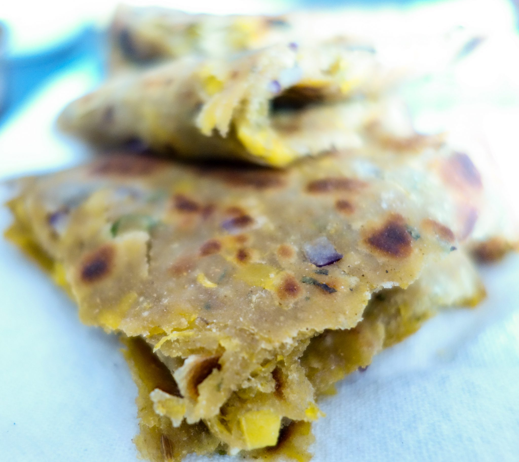 Pumpkin Parantha/Kaddu Parantha(Shallow fried Indian Flat bread) recipe