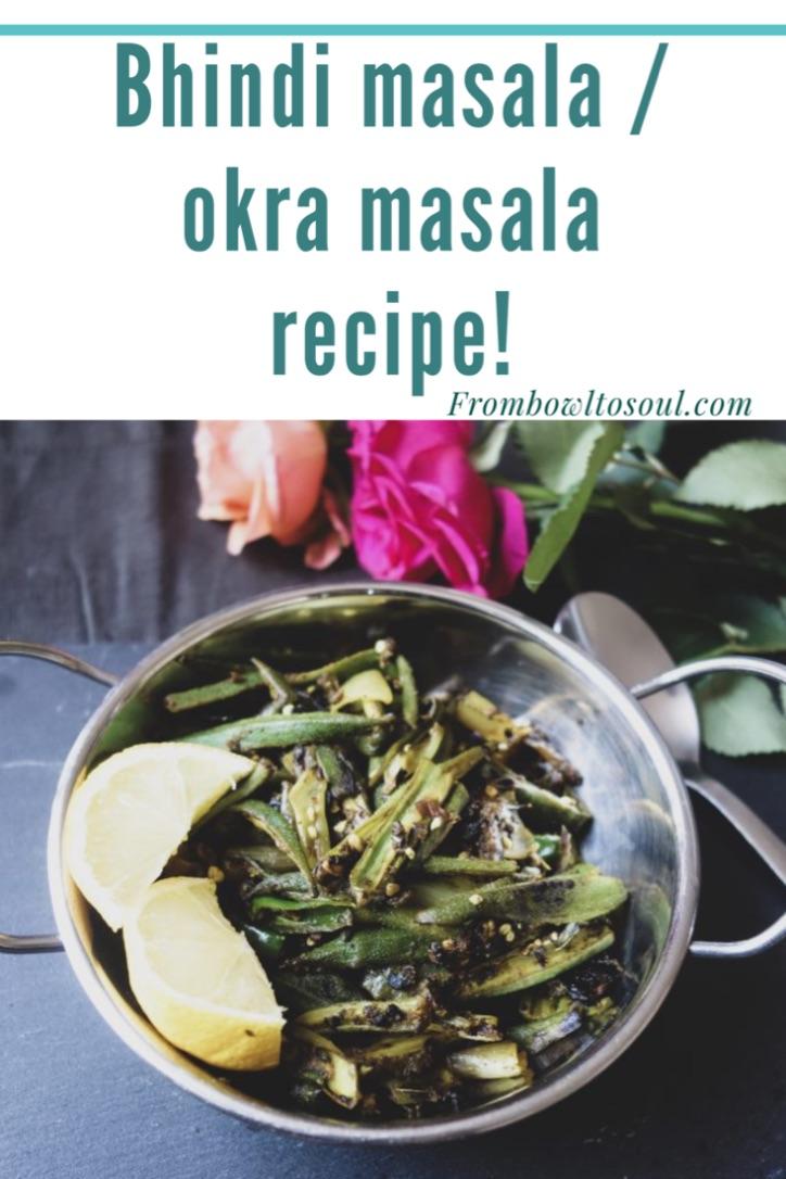 Pin it for later- Bhindi masala/ Okra masala recipe