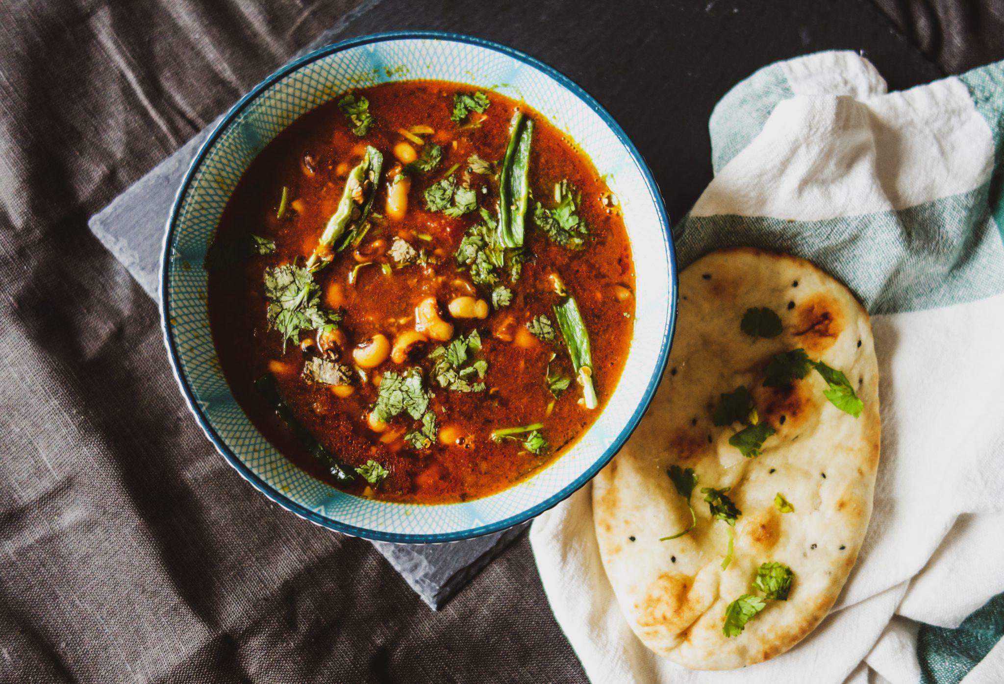 Lobia (Black eyed beans) curry recipe