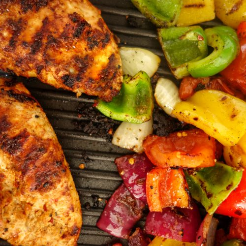 grilled chicken and veggies