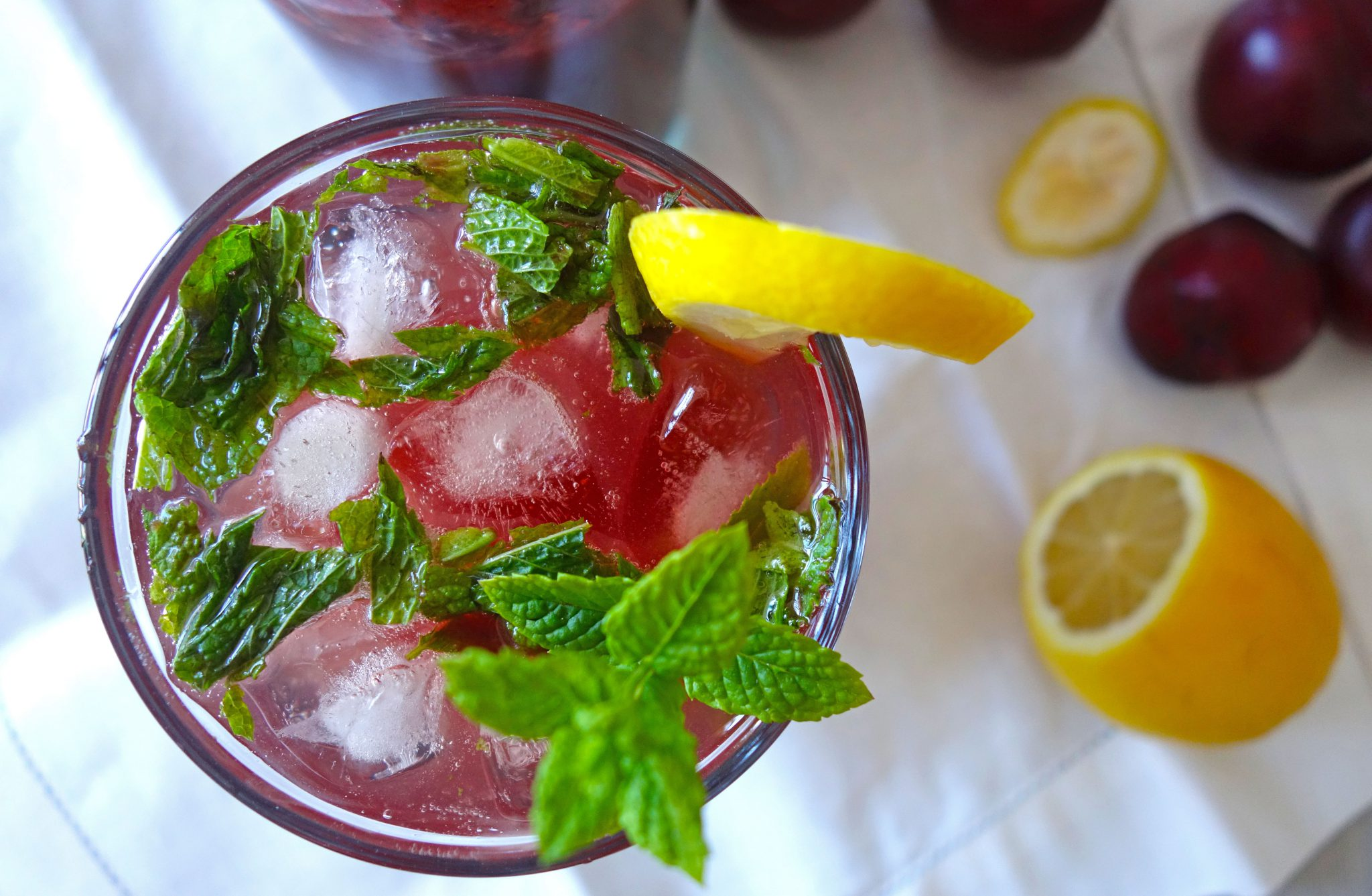 Sparkling Plum drink recipe