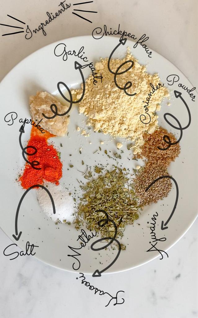 Paneer pakora ingredients