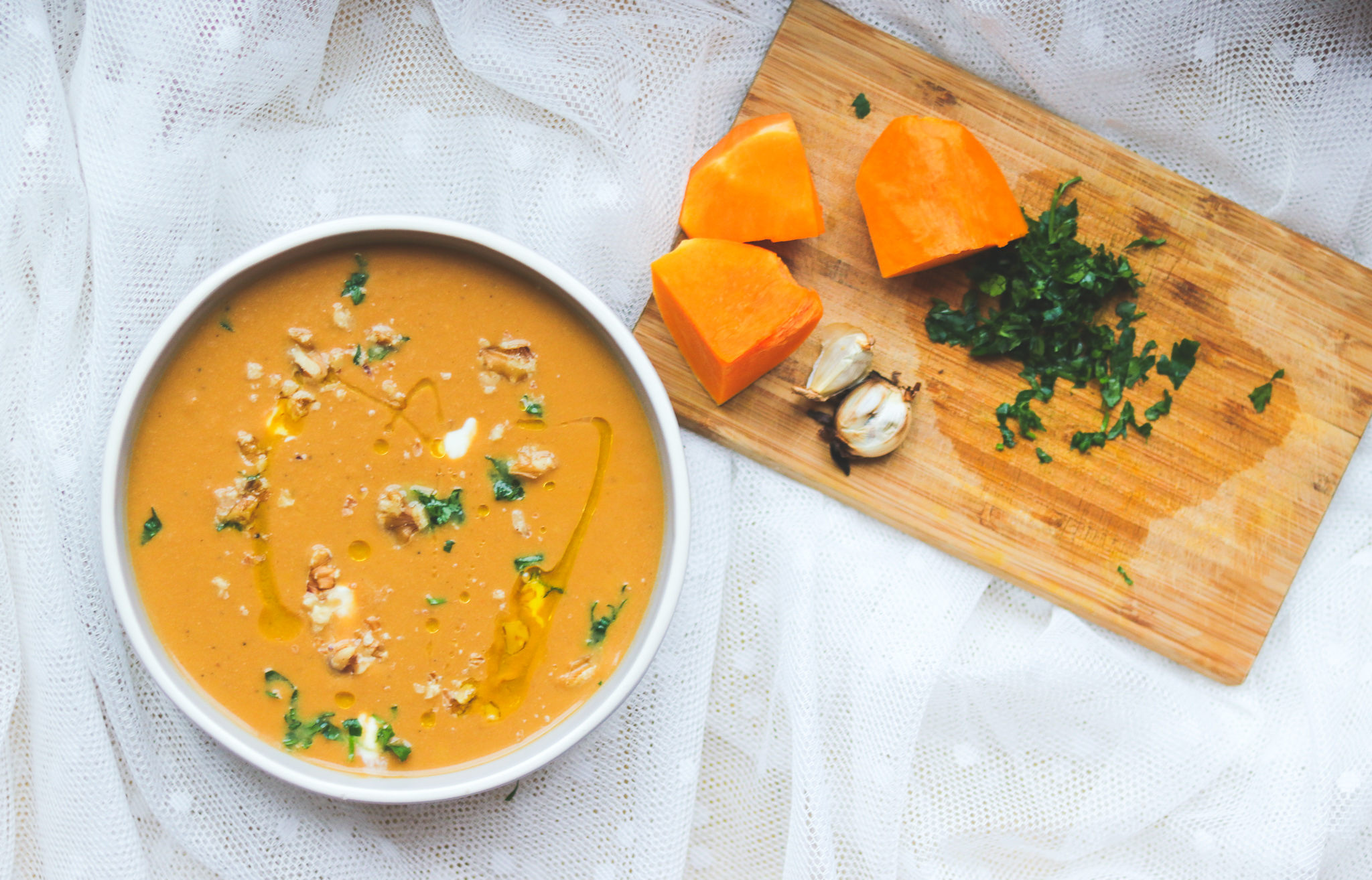 Autumn Butternut squash and walnuts Soup