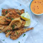 Fennel fritters with hot pepper dip