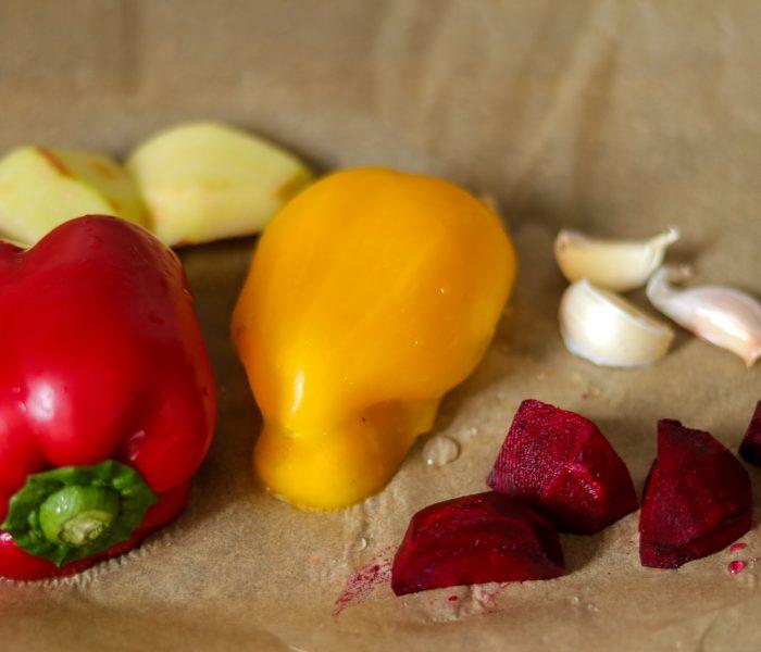 Pepper beets pasta sauce