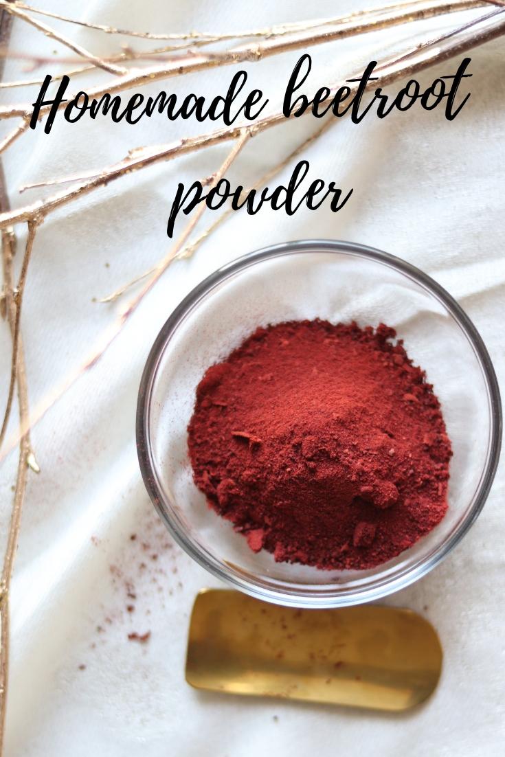 Homemade beetroot powder