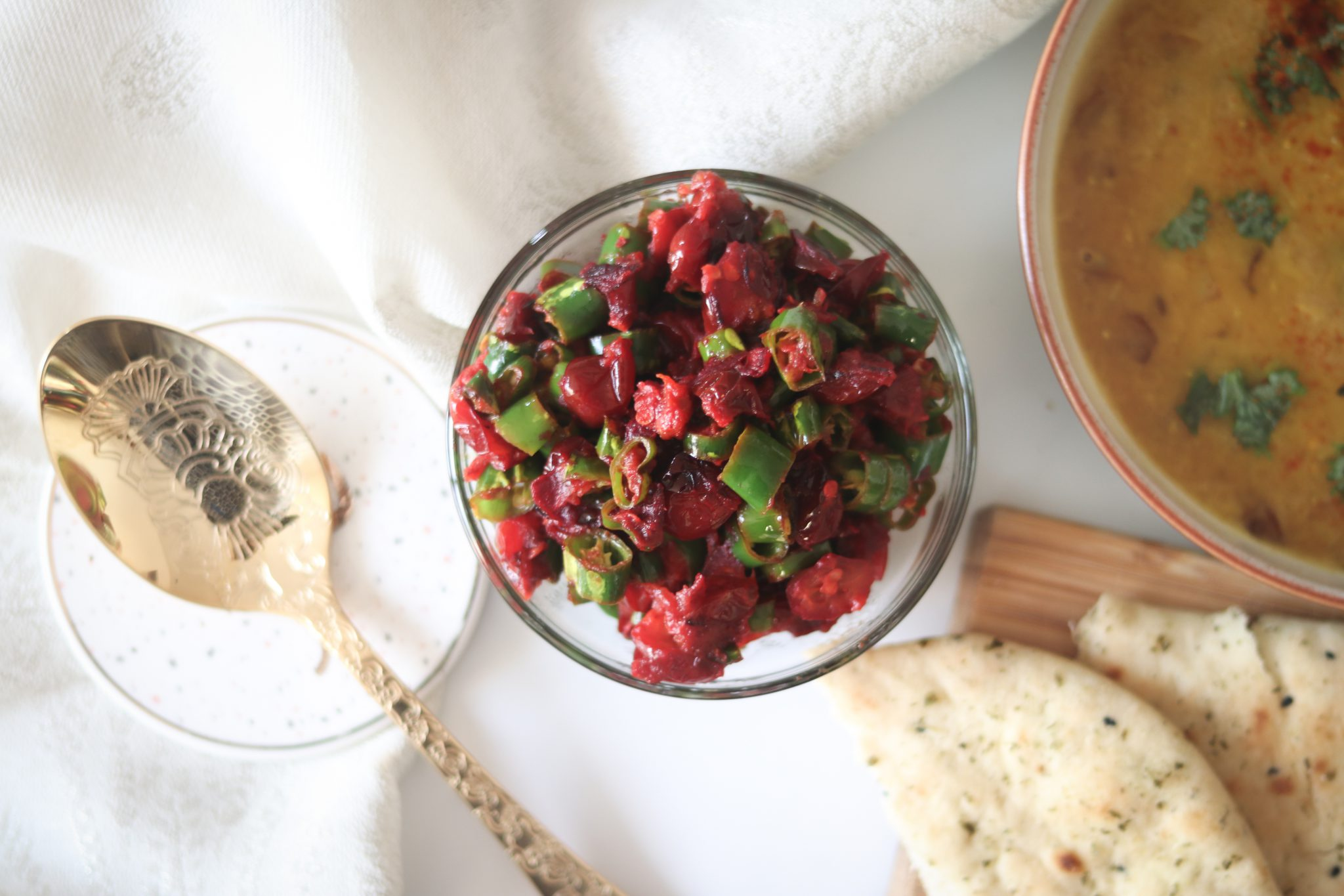 Karonde mirchi/ Sautéed Cranberry with green chillies