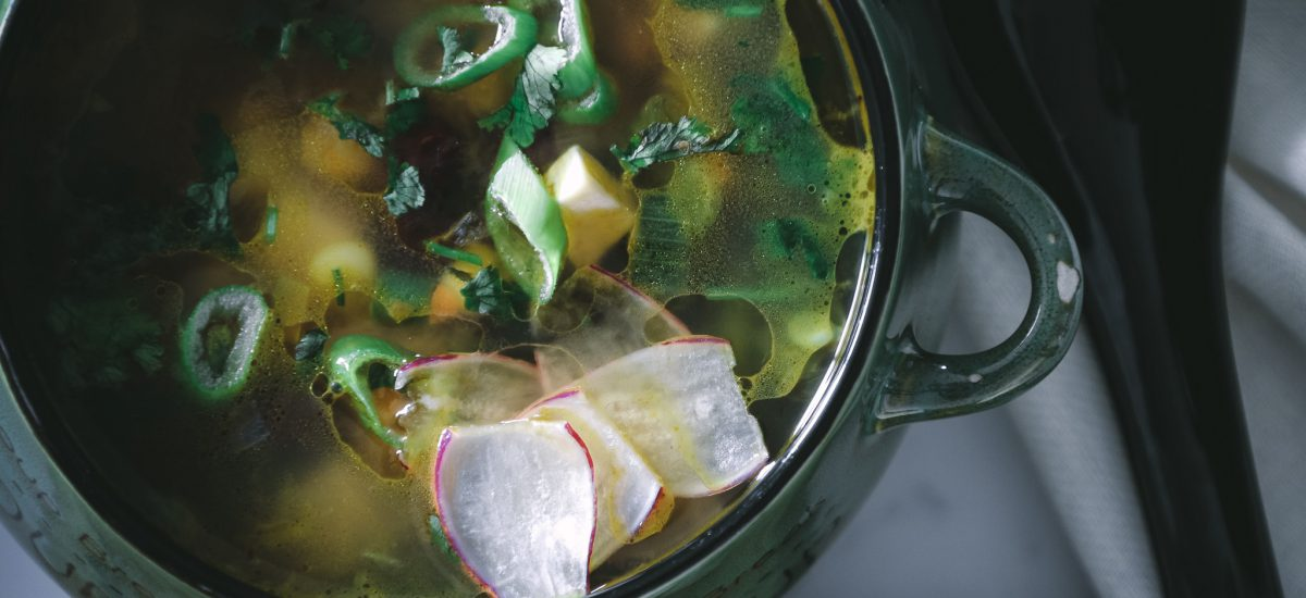 Clear Vegetables and Beans  soup