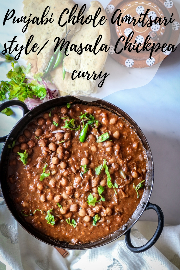Punjabi Chhole chickpea curry
