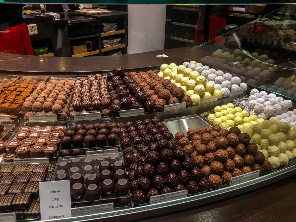 Interlaken- Laderach chocolates