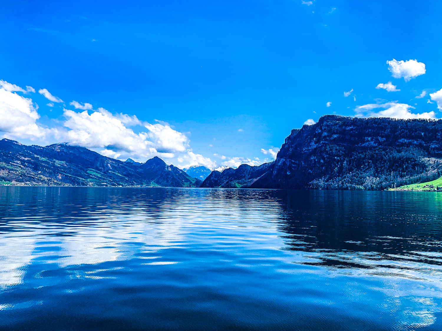 From the boat cruise on Lake Lucerne