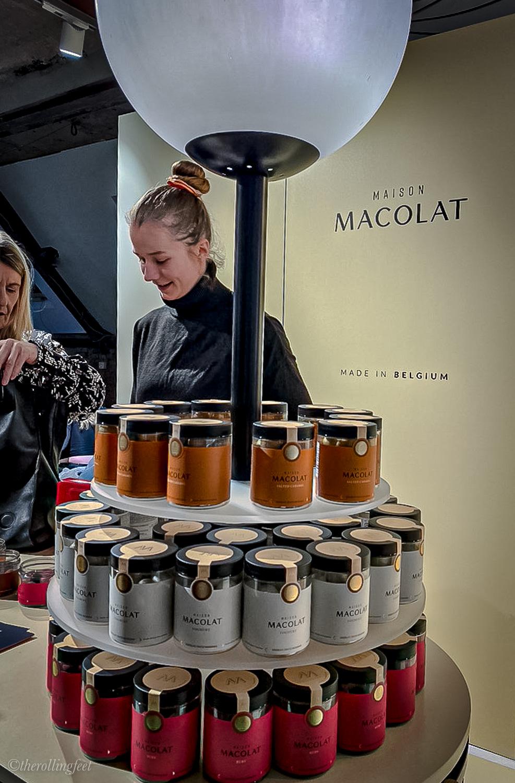 Macolat Chocolates stall at the Berlin fashion week