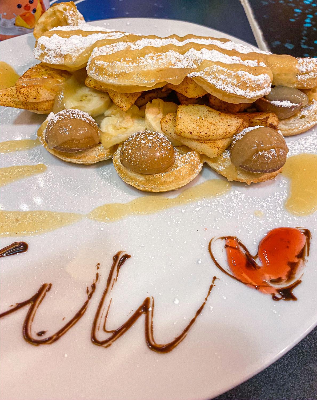 Desserts Waffles