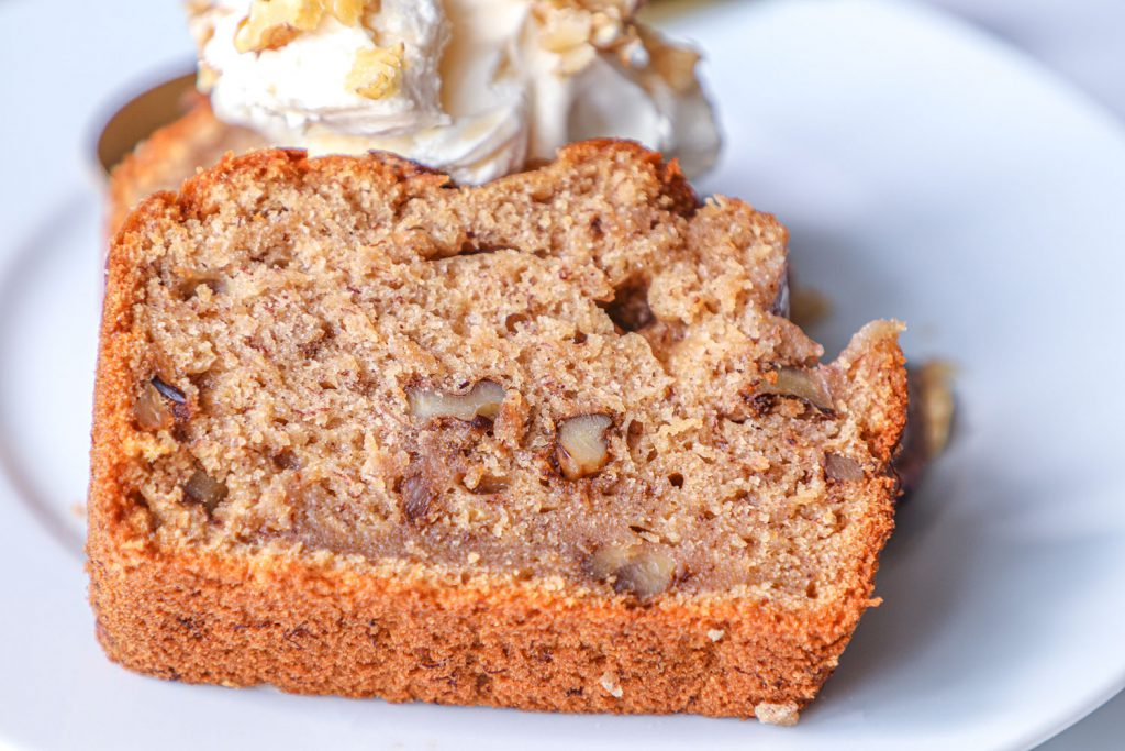 banana and walnuts bread slice