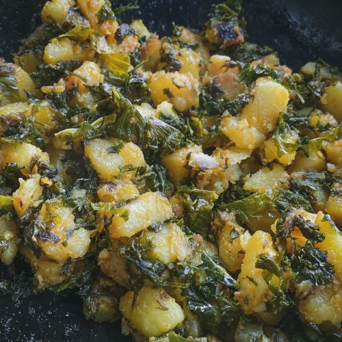 Sauteed Kale with potatoes