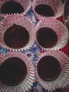 Chocolate in cupcake liners