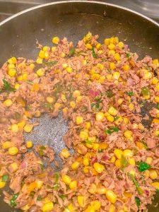 Tuna tacos filling