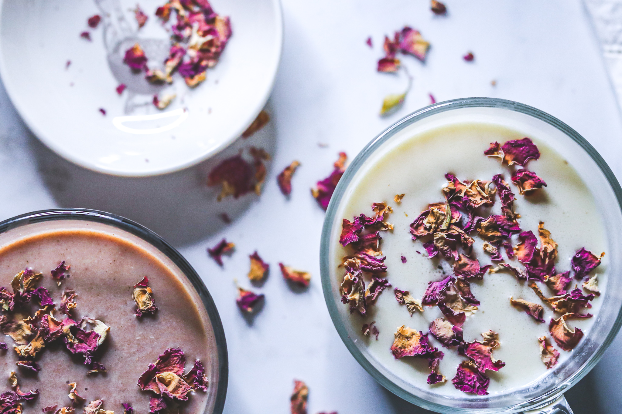 Rose and cardamom infused hot chocolate recipe