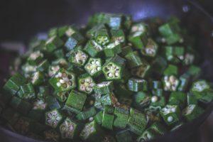 Add chopped bhindi to the onions